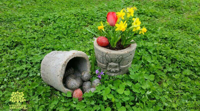 Hypertufa Easter Basket Planters | Creative Easter Garden Projects & Ideas Your Kids Will Love