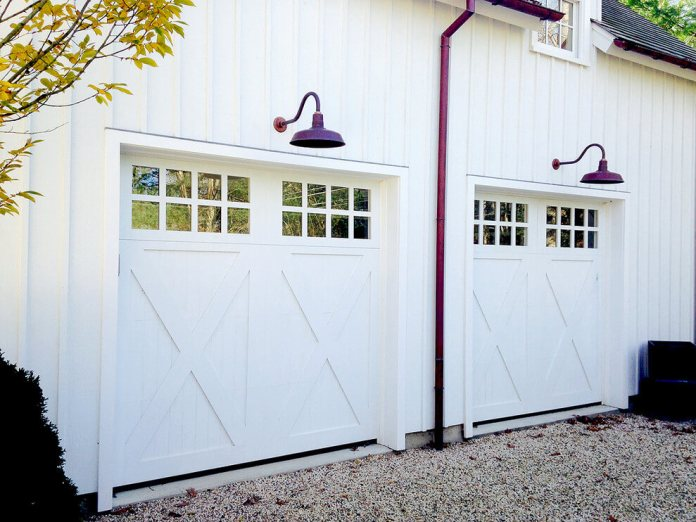 Custom wood garage doors | Best Garage Lighting Designs & Ideas