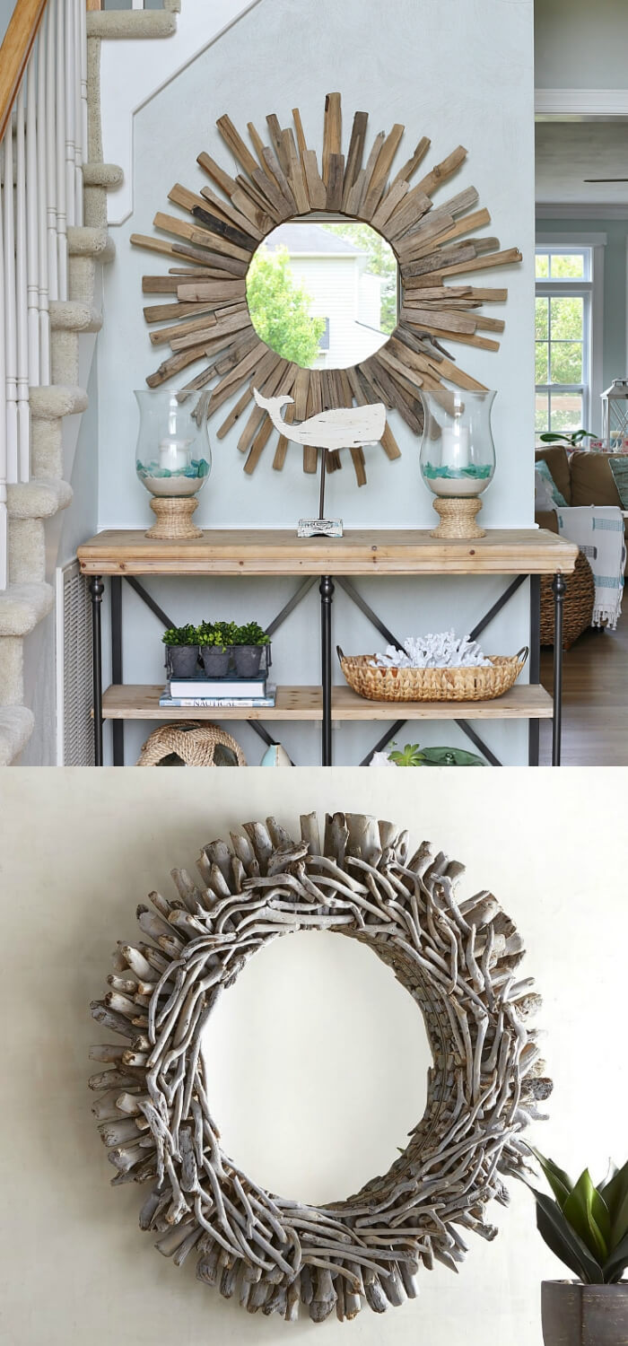 Sunburst mirror | Best Entryway Mirror Decor Ideas