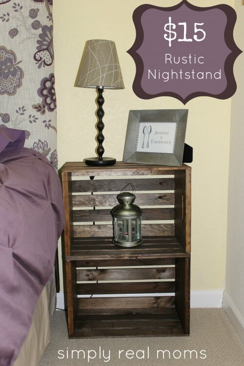 Crate Nightstand with $15 | Best DIY Wood Crate Projects & Ideas