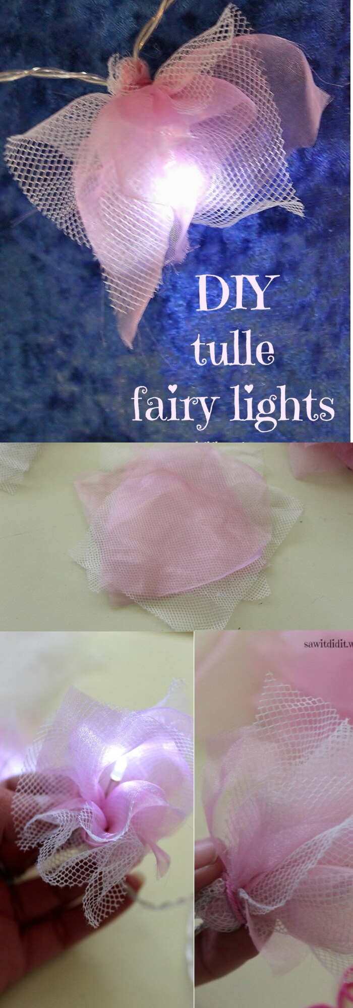 Tulle Fairy Lights | Best Fairy Light Decoration Ideas