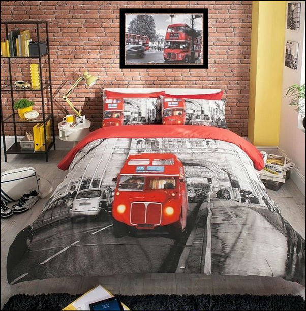 LONDON BUS DUVET COVER QUILT SET | Cool Bedroom Ideas For Boys