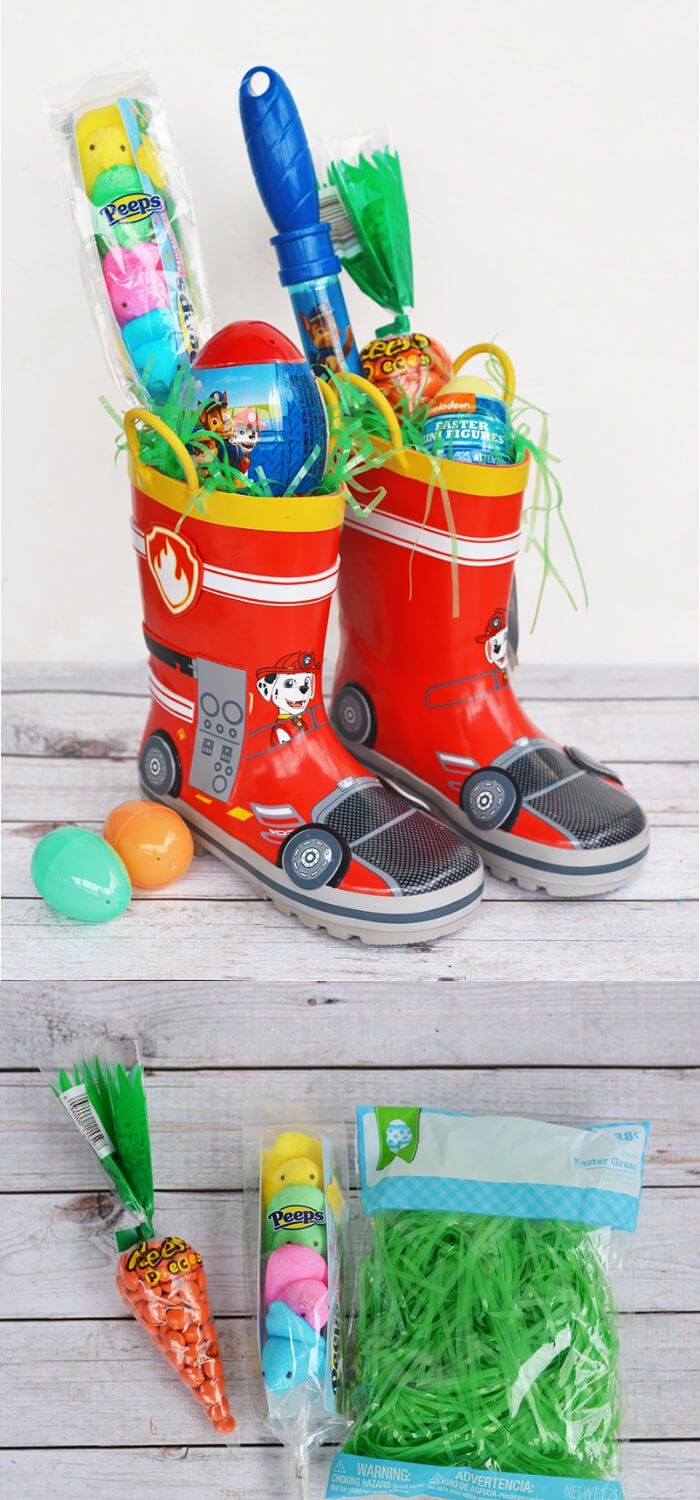 Rain boots Easter Basket | Fun & Creative Easter Basket Ideas