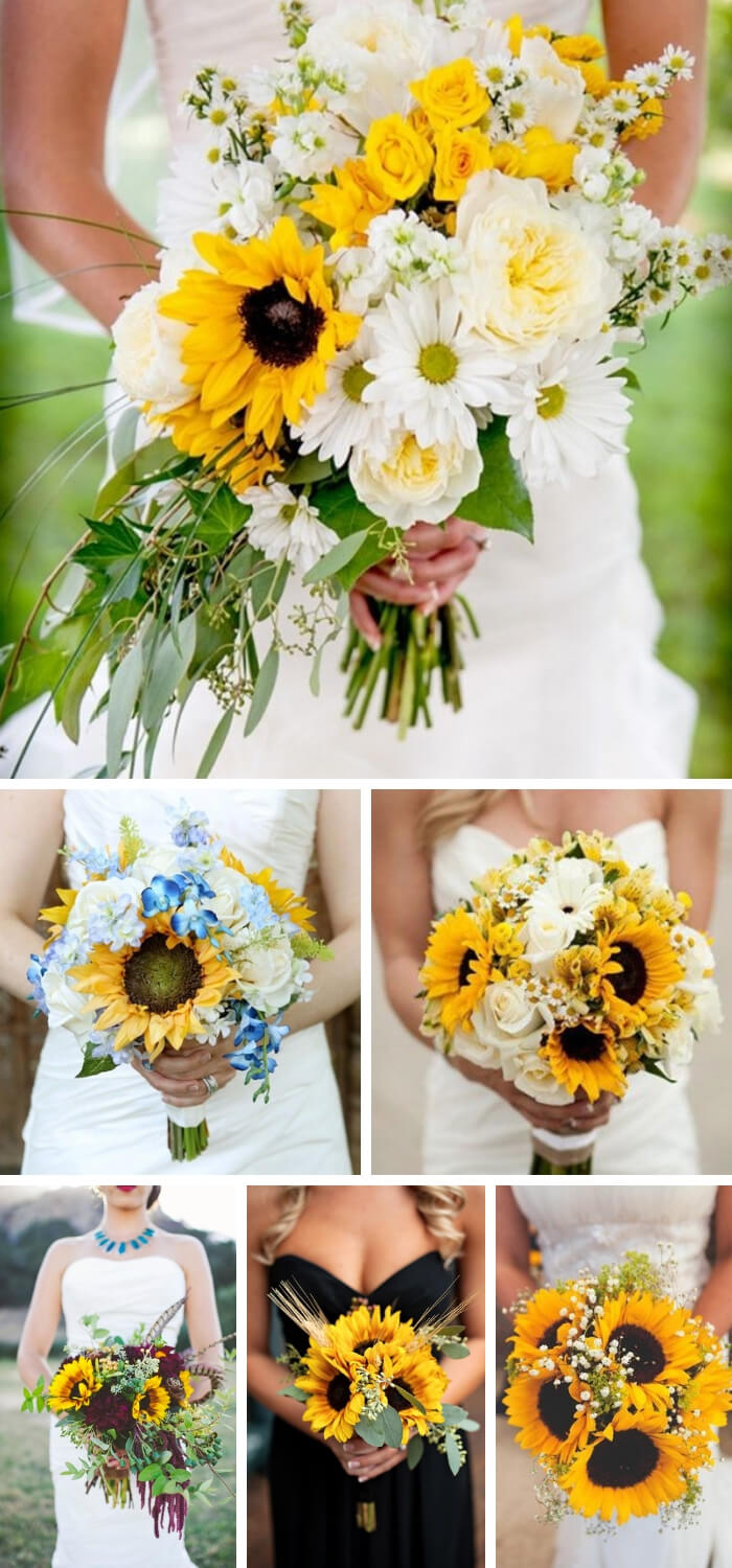 unflower Wedding Bouquets | Creative & Rustic Backyard Wedding Ideas For Summer & Fall