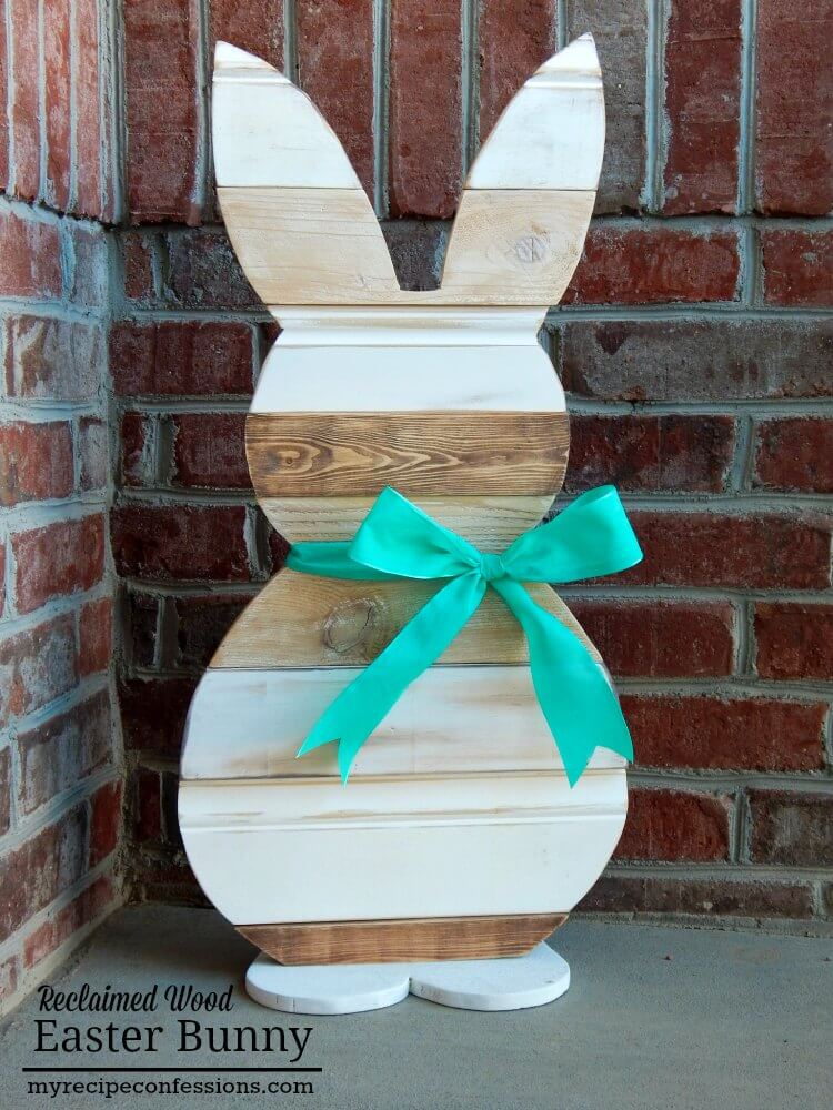 Reclaimed Wood Easter Bunny | Best Easter Porch Decorating Ideas