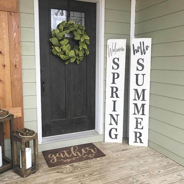 Hello Spring, Welcome Summer | Best Spring Porch Sign Decor Ideas & Designs