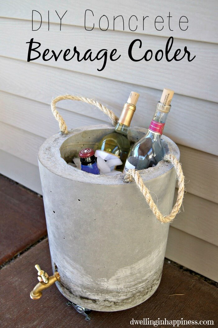 Concrete Beverage Cooler