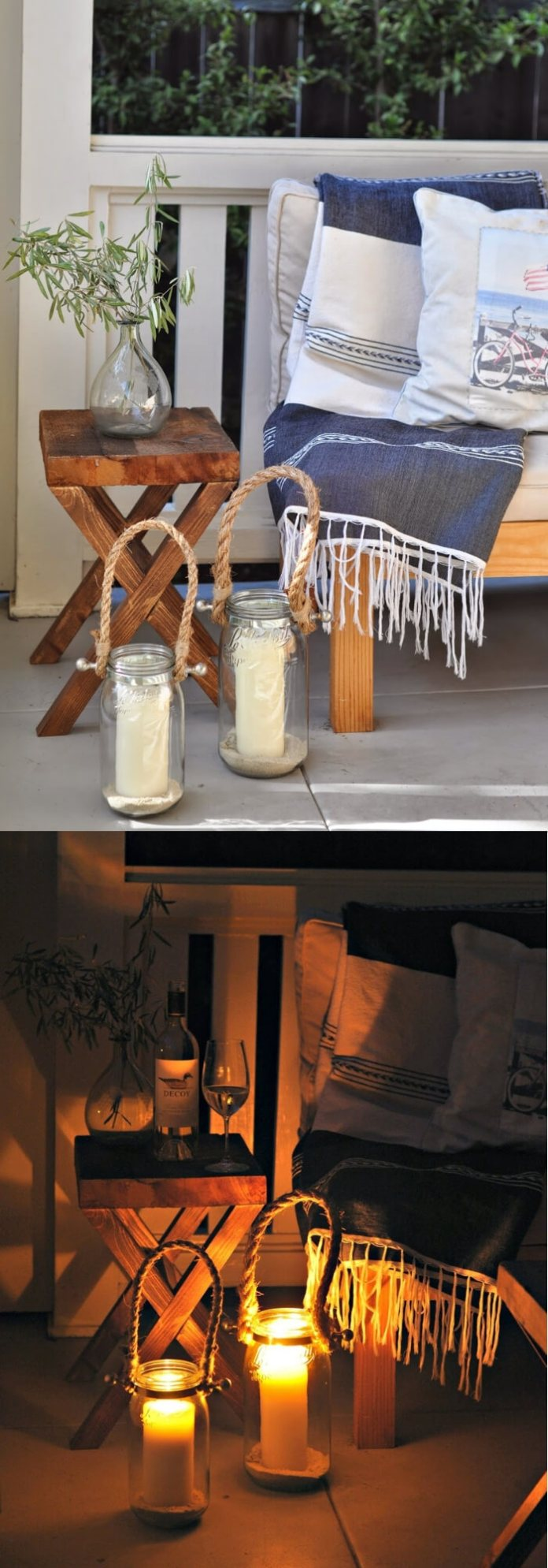 Pottery Barn Inspired Hyannis Lanterns | Trending & Vintage Porch Lighting Ideas & Designs | FarmFoodFamily.com