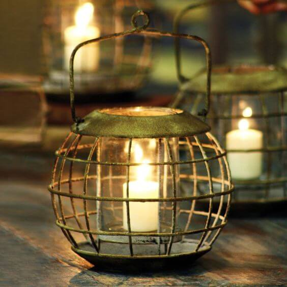 Sculpted from iron | Trending & Vintage Porch Lighting Ideas & Designs | FarmFoodFamily.com