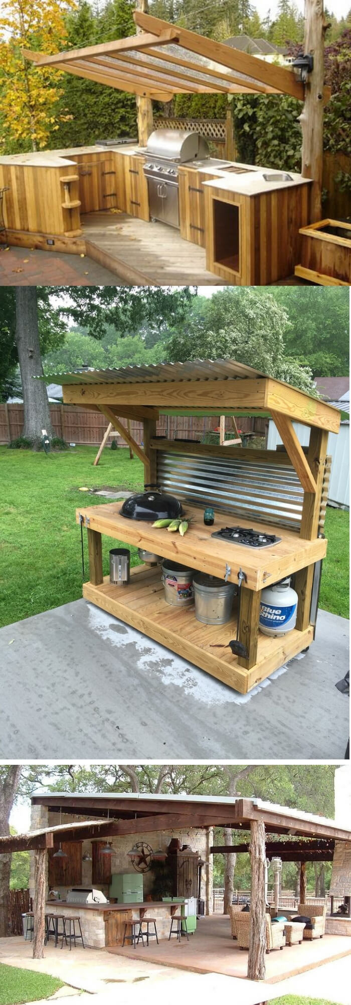 Cheap Outdoor Kitchen | DIY Outdoor Kitchen Ideas (Cheap, Simple, Modern,  And
