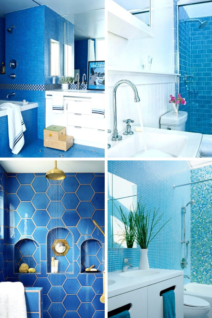 Blue Bathroom Tile Ideas 2 | Bathroom Tile Design: Ideas for Incorporating Tile into the Bathroom Design