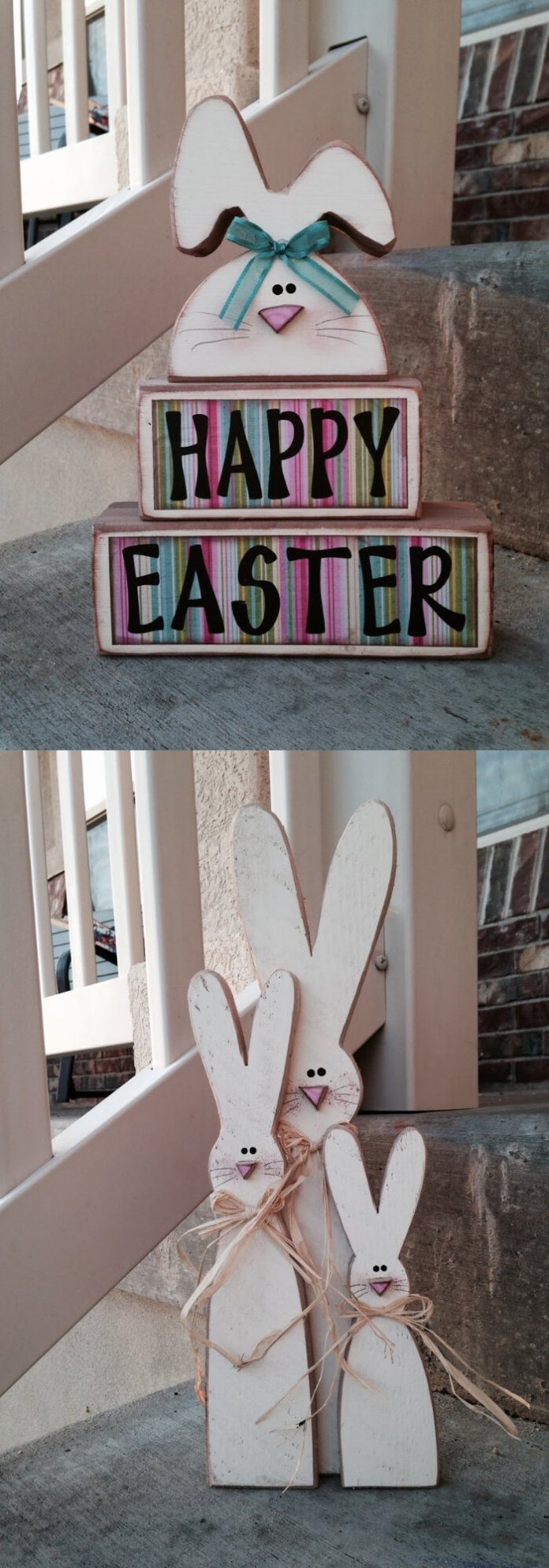 Skinny bunnies | Best Easter Porch Decorating Ideas