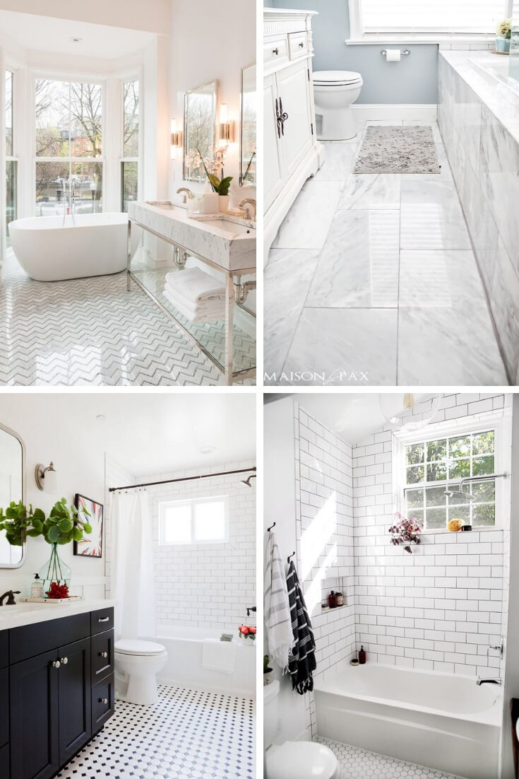 White Bathroom Tile Ideas 1 | Bathroom Tile Design: Ideas for Incorporating Tile into the Bathroom Design