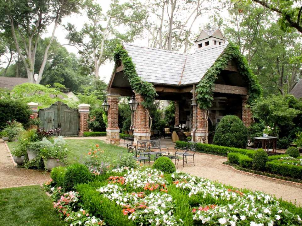 Cottage Backyard Pavilion ideas