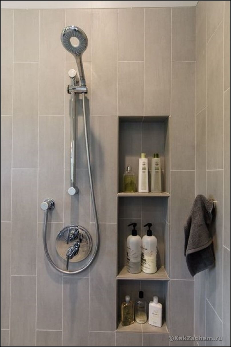 Into the wall | Best Small Bathroom Storage Designs & Ideas