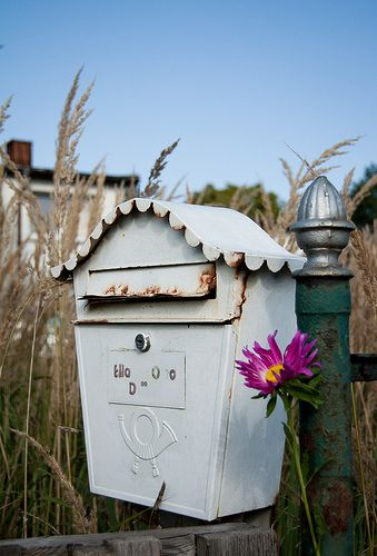 Grey mailbox | Best Mailbox Landscaping Ideas