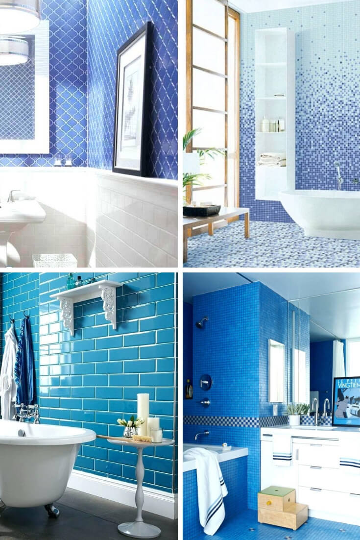 Blue Bathroom Tile Ideas 1 | Bathroom Tile Design: Ideas for Incorporating Tile into the Bathroom Design