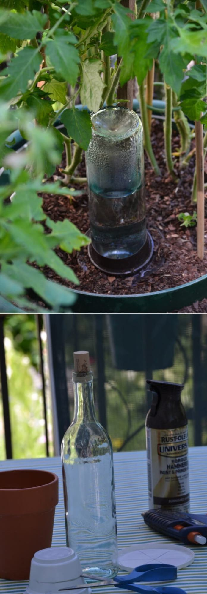 DIY Self-Watering Planters from Wine bottle | Best DIY Self-Watering System Ideas