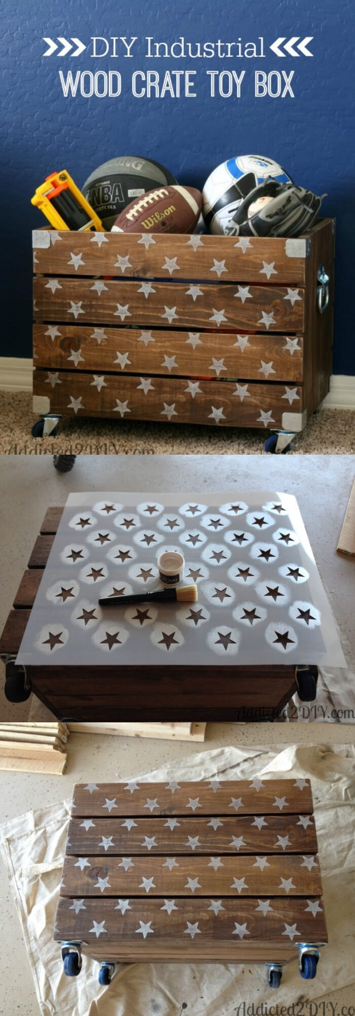 Wood Crate Toy Box | Best DIY Wood Crate Projects & Ideas