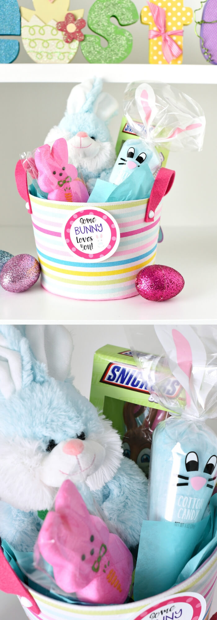 Bunny Easter basket | Fun & Creative Easter Basket Ideas