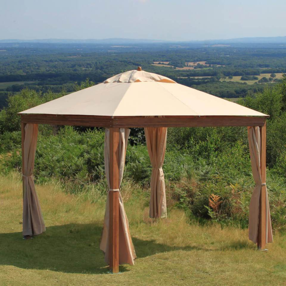 Portable Wood Backyard Pavilion ideas