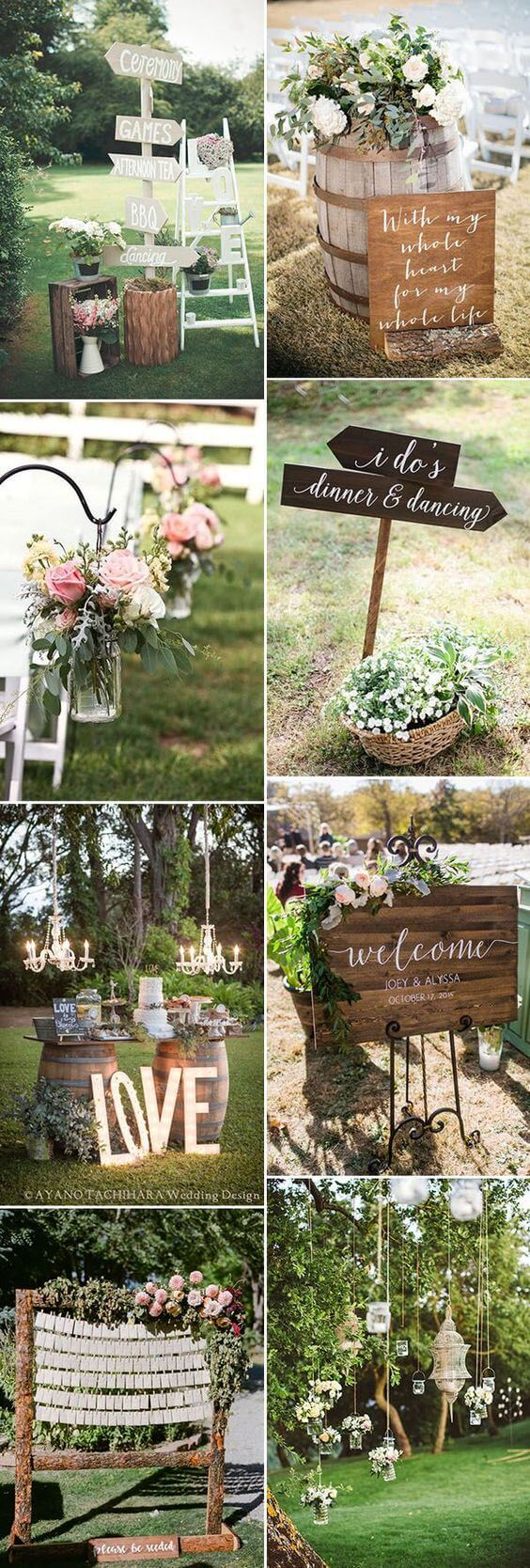 Wedding Welcome sign ideas | Creative & Rustic Backyard Wedding Ideas For Summer & Fall