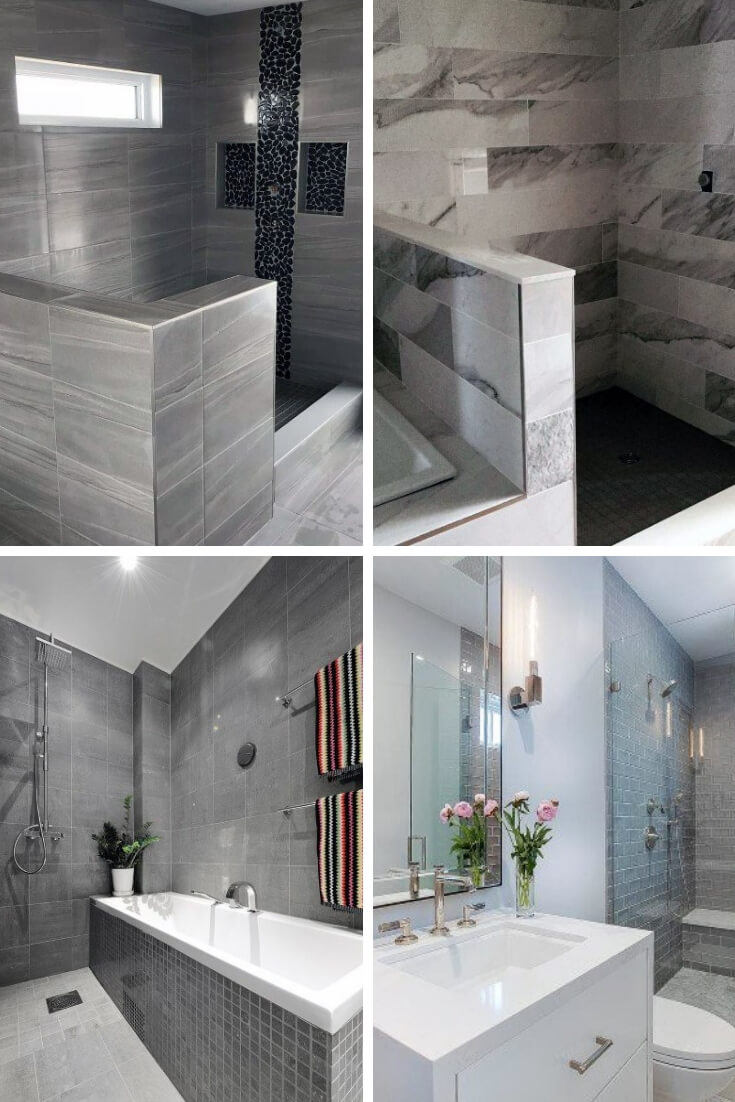 Grey Bathroom Tile Ideas 2 | Bathroom Tile Design: Ideas for Incorporating Tile into the Bathroom Design