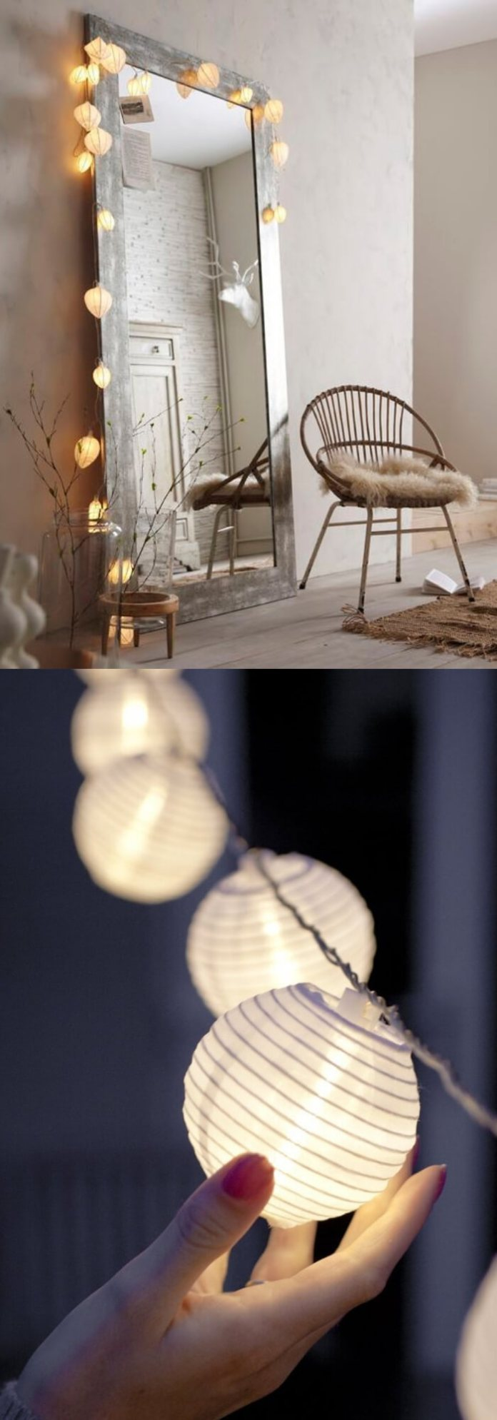 Dress your mirror with fairy lights | Best Fairy Light Decoration Ideas