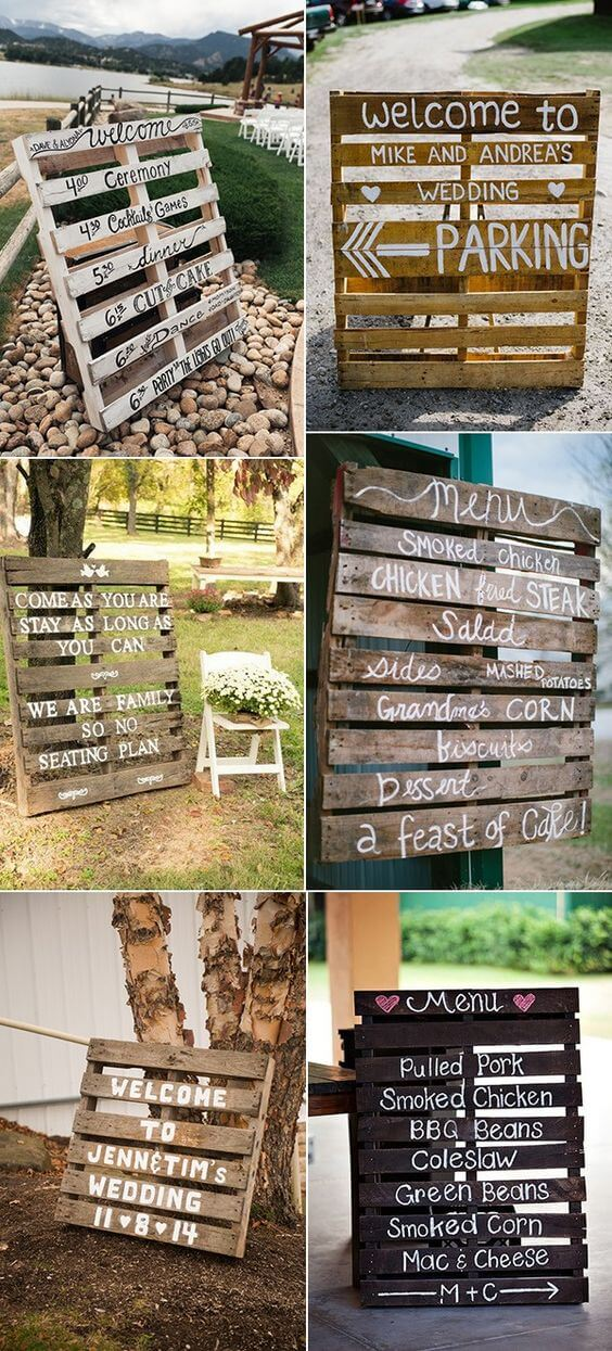 Rustic welcome signs for wedding | Creative & Rustic Backyard Wedding Ideas For Summer & Fall