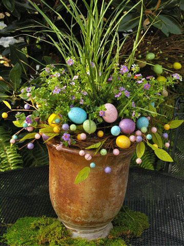 Easter Themed Container Garden | Creative Easter Garden Projects & Ideas Your Kids Will Love