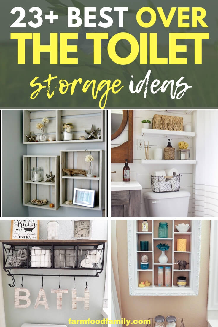 23+ stunning & creative over the toilet storage ideas & designs for your bathroom