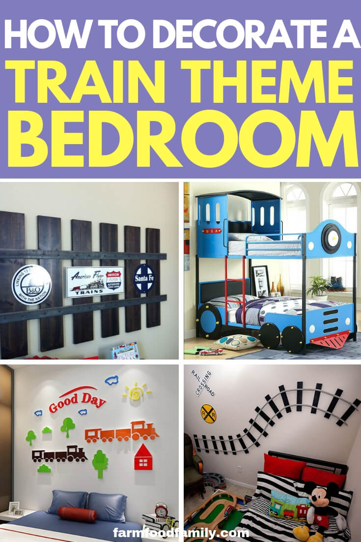 How to Decorate a Train Theme Bedroom: Design a Little Boy's Railroad Theme Room or Nursery