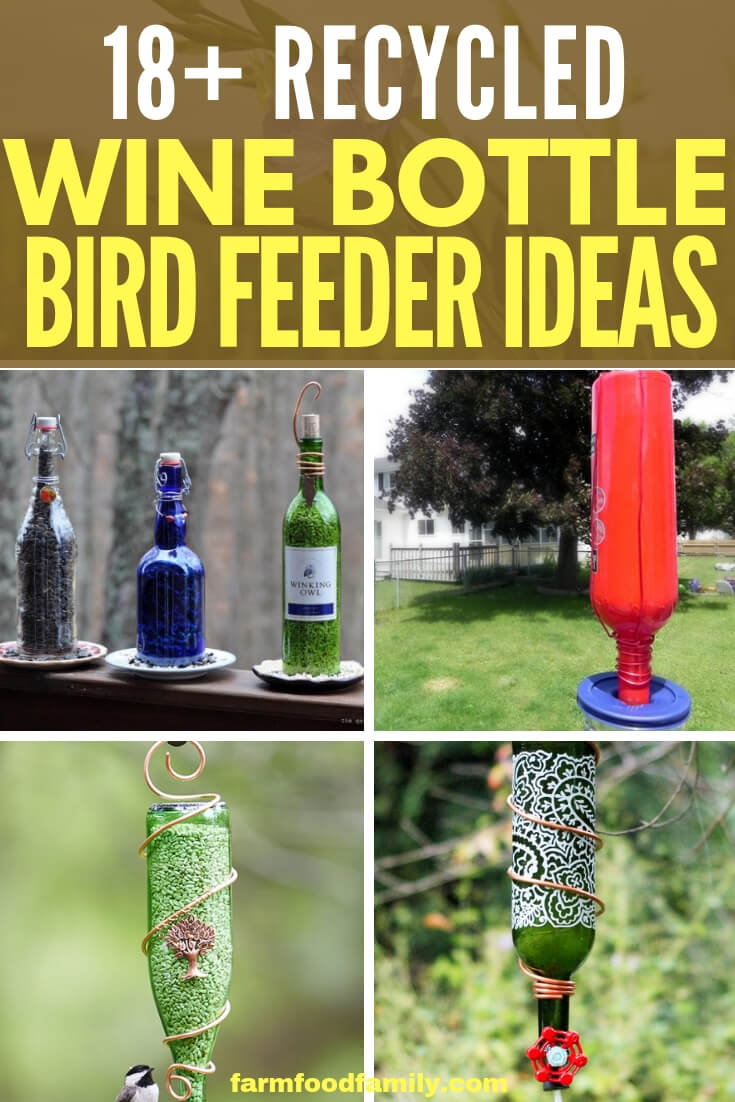 Recycled Wine Bottle Bird Feeder Ideas That Attract More Birds