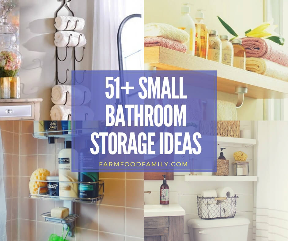 51+ Best Small Bathroom Storage Designs & Ideas For 2019
