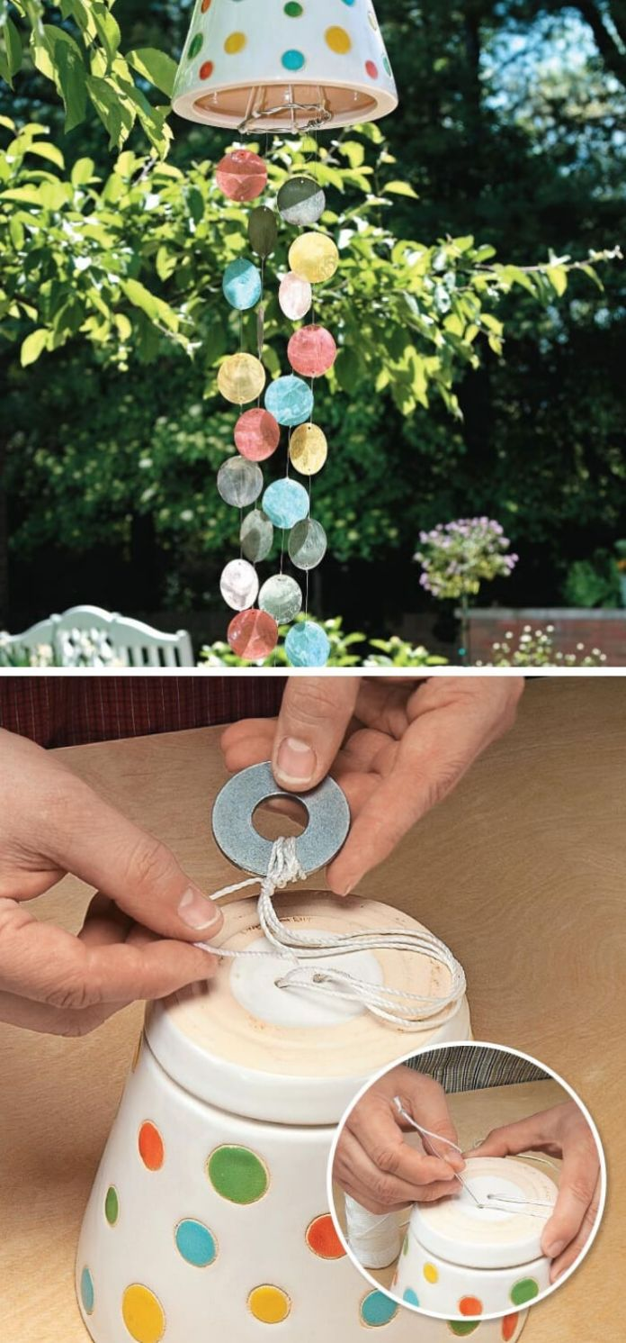 Colorful DIY Wind Chimes