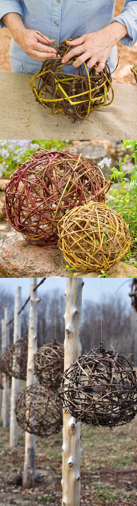 Grapevine Balls | Best DIY Garden Globe Ideas & Designs