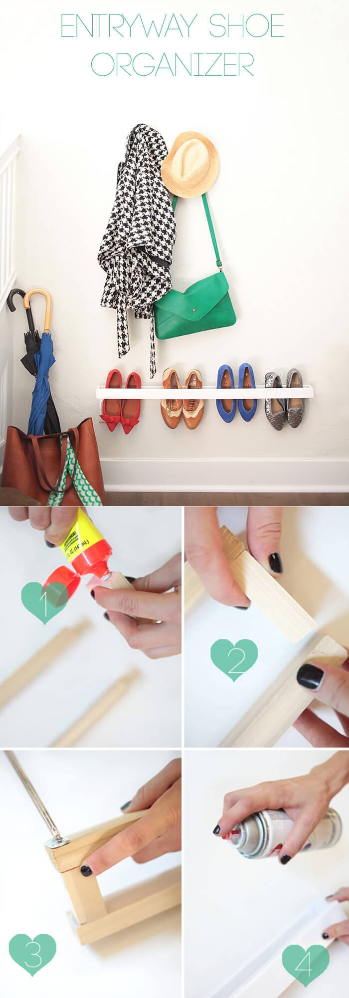 Mudroom/Entryway Shoe Organizer | Smart Shoe Storage Ideas & Designs For Any Zoom Size