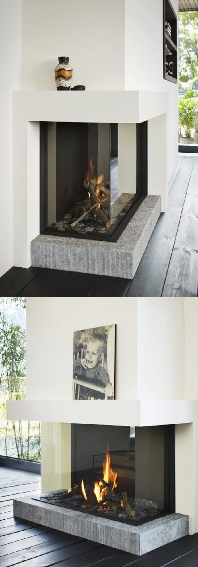 20+ Elegant Corner Fireplace Ideas & Designs for Your Home 2021