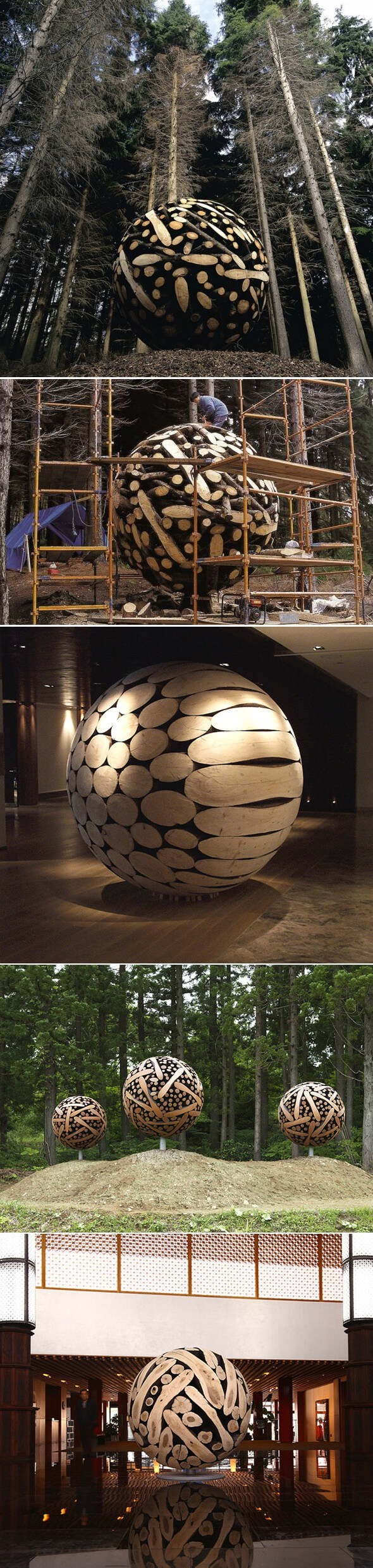 Giant Wooden Spheres | Best DIY Garden Globe Ideas & Designs