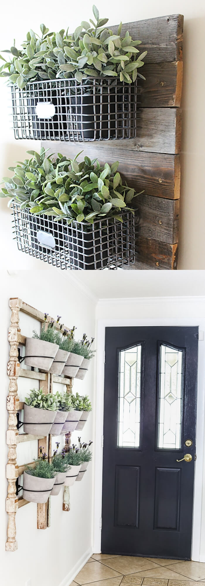 Farmhouse Hanging Wire Wall Pieces | Best Farmhouse Indoor Plant Decor Ideas & Designs