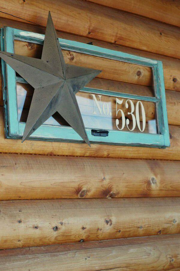 Repurposed Window Display House Numbers | Creative DIY Outdoor Window Decor Ideas