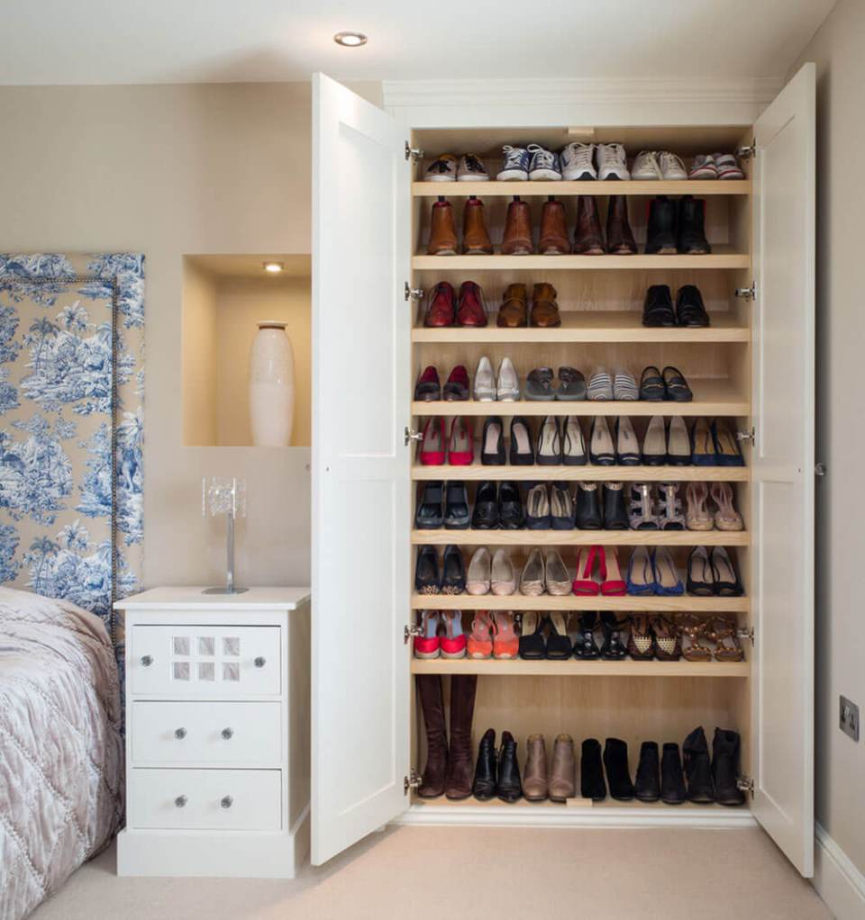 Shoe Wardrobes in bedroom | Smart Shoe Storage Ideas & Designs For Any Zoom Size