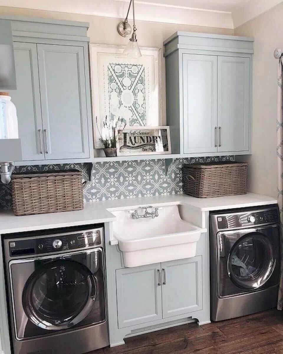 30 Stunning Farmhouse Laundry Room Designs Amp Ideas For 2020