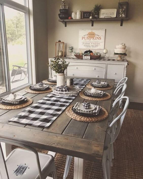 28+ Stunning Farmhouse Dining Room Decor & Design Ideas