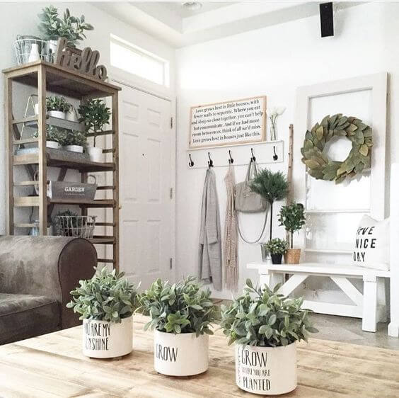 Herb plants with sayings | Best Farmhouse Indoor Plant Decor Ideas & Designs