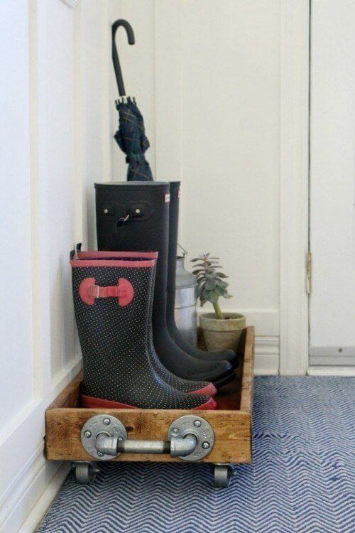 Wooden Boot Tray | Smart Shoe Storage Ideas & Designs For Any Zoom Size