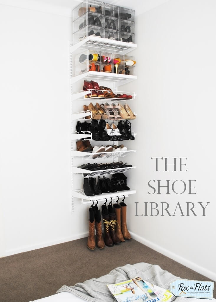 Elfa shoe storage | Smart Shoe Storage Ideas & Designs For Any Zoom Size