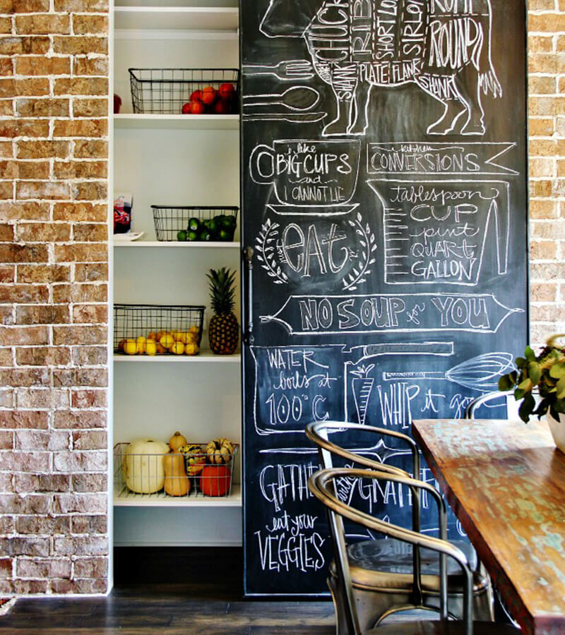 Chalkboard Pantry Door | Inspiring Farmhouse Kitchen Design & Decor Ideas
