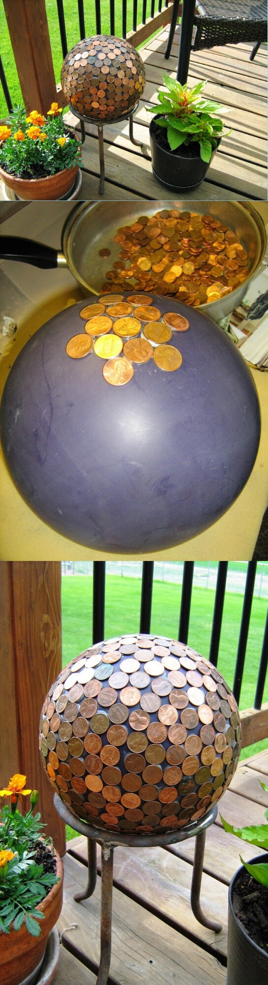 A Penny Ball | Best DIY Garden Globe Ideas & Designs
