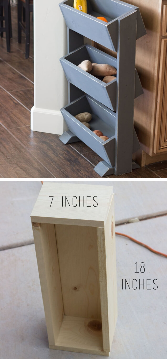DIY Produce Stand under $30 | Best Fruit and Vegetable Storage Ideas For Your Kitchen
